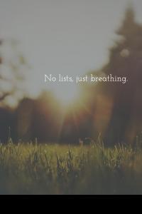 C. Streetlights no lists still breathing