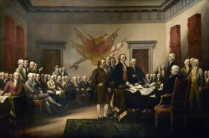 Trumbull painting Declaration of Independence Patriotism