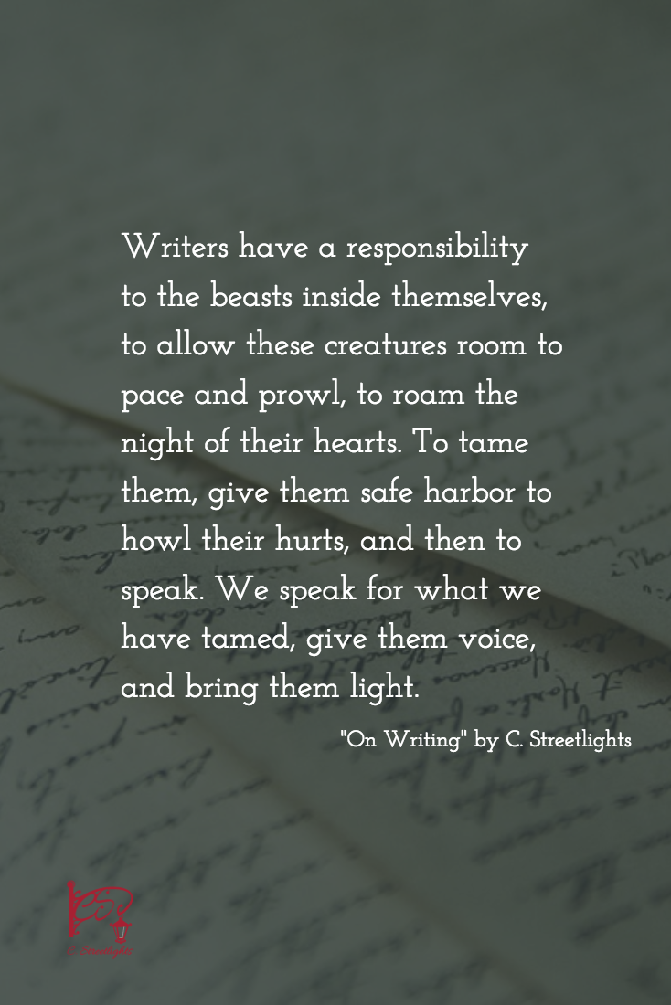 On #Writing via #CStreetlights
