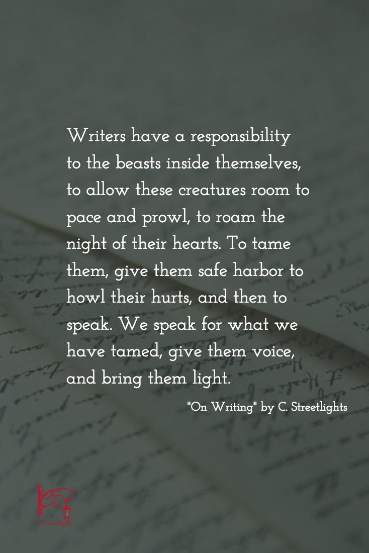 On #Writing via #CStreetlights