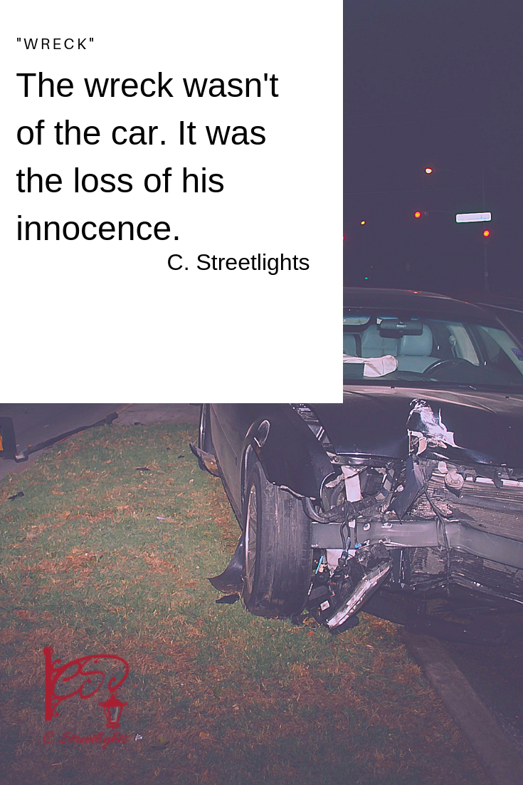 My son was in a car #wreck last month. He is okay--I find myself having to rush to say that for other people's benefit as well as my own, as if each time I say the words they stop the nightmare from returning. The nightmare where I wake up sobbing from being told he isn't okay at all, where the #wreck is worse than it was.-- via @CStreetlights
